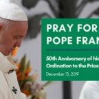 Pope Francis 50th anniversary of ordination